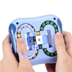 Anti-Stress Rotating Magic Bean Cube Fingertip Fidget Adults Kids Stress Toy
