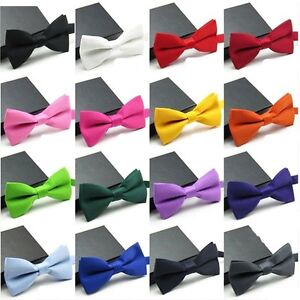 Men-039-s-Fashion-Tuxedo-Classic-Solid-Color-Adjustable-Wedding-Party-Bowtie-Bow-Tie