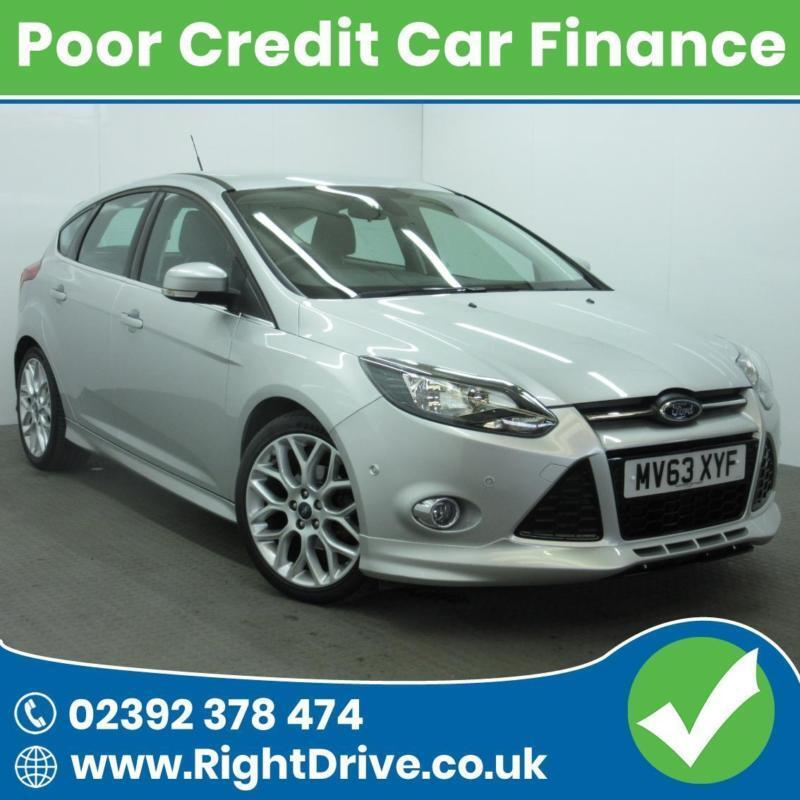 POOR CREDIT? NEED A CAR? Ford Focus 1.6TDCi Zetec S 63-2013 (Diesel)