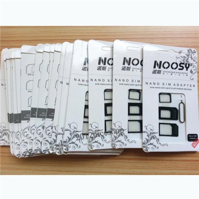 Fashion Black Nano SIM Card to Micro  Adapter Converter Set For iPhone 5 4S 4