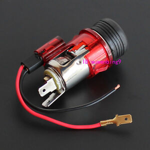 red-12v-Illuminated-Car-Cigarette-Cigar-Lighter-Accessory-Socket-universal