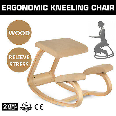 Bentwood Ergonomic Kneeling Chair Office Study Chair Comfortable Relieve Stress