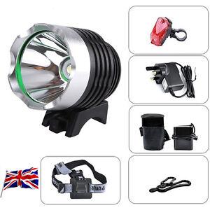 2000 Lm CREE XM-L XML T6 LED Bicycle Bike Head Light Headlamp Rechargeable Light