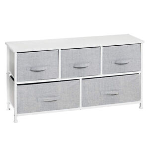 mDesign Extra Wide Dresser Storage Tower 5 Drawers
