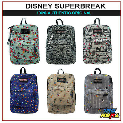 2579ba35ded JANSPORT DISNEY SUPERBREAK MICKEY GOOFY PLUTO DONALD BACKPACK BAG BLUE AQUA  GREY