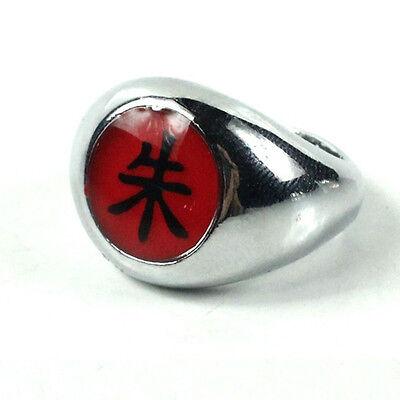 Naruto Akatsuki Uchiha Itachi Zhu Ring Metal Alloy Cosplay