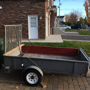 4x8 All Metal Utility trailer with ramp
