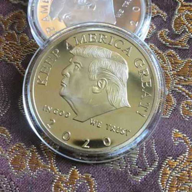 2020 President Donald Trump Gold Plated EAGLE Commemorative Coin