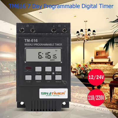 30a 7 Days Programmable Digital Timer Time Control Switch Din Rail Mount