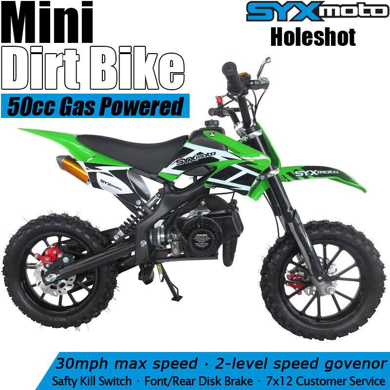 SYXMOTO Holeshot Kids Mini Dirt Bike Gas Power 2-Stroke 49cc