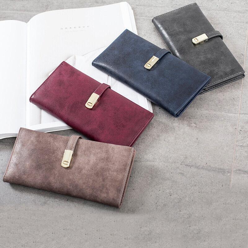 Womens Slim RFID Ladies Wallets Long Bifold Card Holder Magnetic Closure Handbag Clothing, Shoes & Accessories