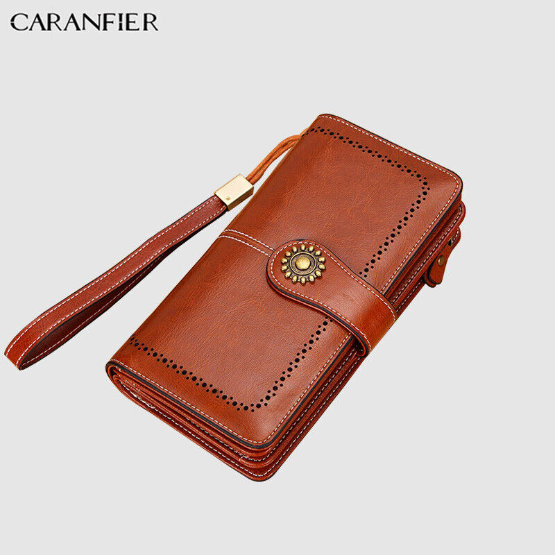 CARANFIER Women Wallets PU Leather Purse Slim RFID Clutch Ca