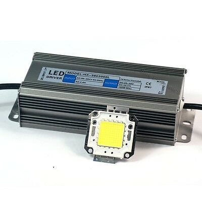 100w White High Power Led Light Lamp Panel 100w High Power Led Driver Ac85-265v