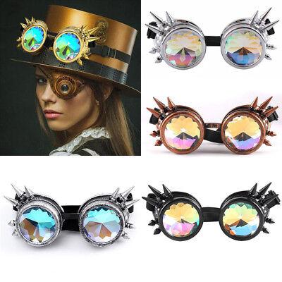 STEAMPUNK BRILLE # holografische Gläser Augen Wave Gothic Kostüm Zubehör (Steampunk Brille Kostüm)
