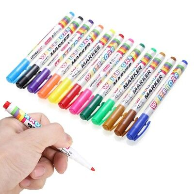 Hot 12 Colors-whiteboard Markers White Board Dry-erase Marker Pens Set Fine Nib