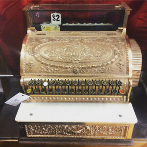 Antique 1910 Brass National Cash Register