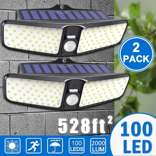 Waterproof 100 LED Solar Powered Light Outdoor PIR Motion Se