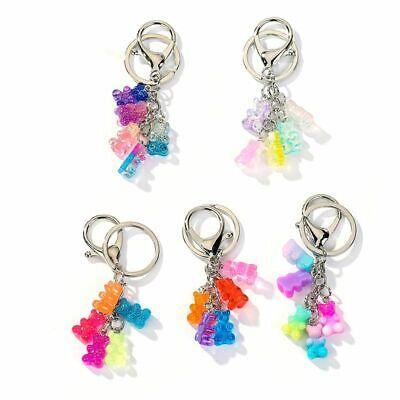 Gummy Bear keychain Cute colorful Jelly Bear for Key](Gummy Bear Keychain)