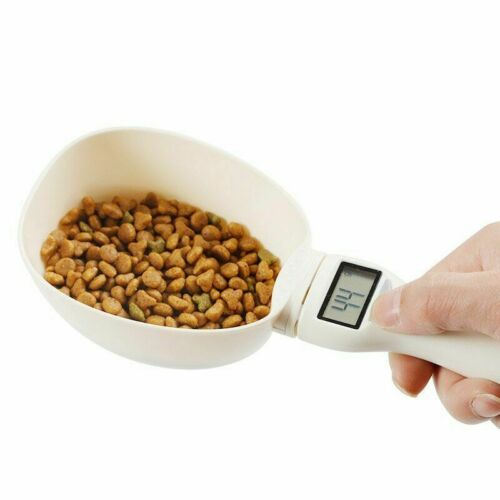 250ML Electronic Pet Food Scale Dogs Cereals Handled Feeding Bowl Measure Spoon - $19.99