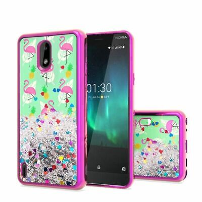 For Nokia 3.1 C Hot Pink Flamingo Pineapple Feather Hard Hybrid Case Cover Hot Pink Hard Case Cover