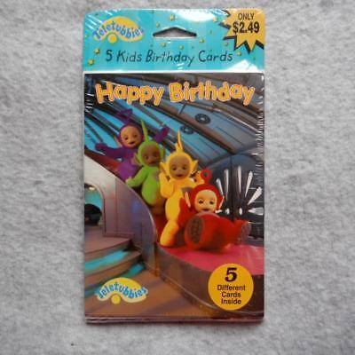 TELETUBBIES Happy Birthday Cards set of 5 American Greetings Vtg Retro 2000 NEW 2000 Greetings Cards