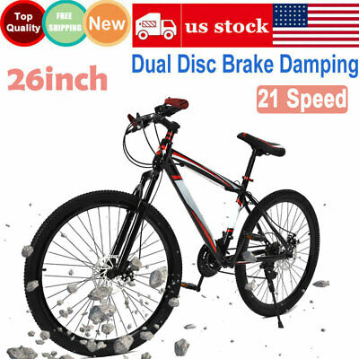 26 inch Mountain Bike 21 Speed Dual Disc Brake Damping Mens