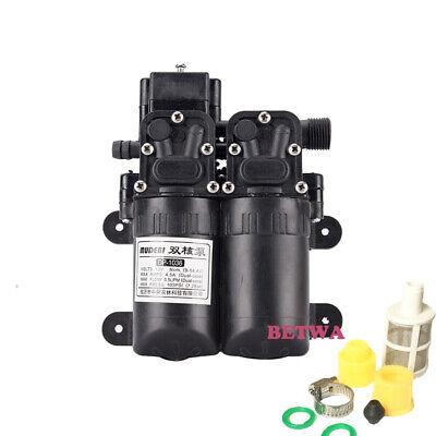 100w Double Head 105psi High Pressure Water Pump 12v Sprayer Pump 5.5lm