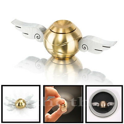 Harry Potter Golden Snitch Hand Fidget Spinner Wings ADHD Stress Relief Toys