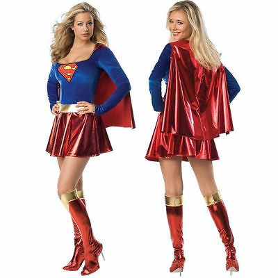 Women's Sexy Supergirl Costume Superwoman Superhero Fancy Dress Halloween