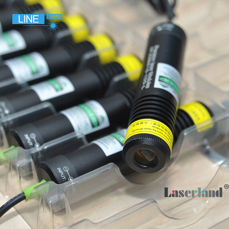 Waterproof 520nm 135mW Green Line Generator Laser Module for Stone Wood Cutting