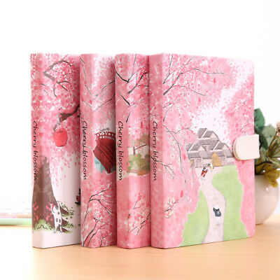 """Sakura Cat ver.2"" 1pc Journal Diary Cute Lined Planner Hard Cover Notebook Memo"