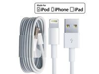 X 100 New Genuine Apple iPad iPhone 5 6 7 + Charger Lightning to USB Cable (1M)