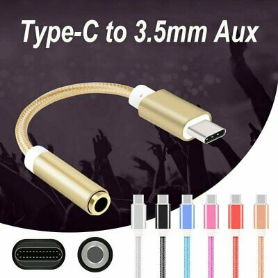 USB-C Type C Adapter Port to 3.5MM Aux Audio Jack Earphone Headphone Cable USB Cables & Adapters