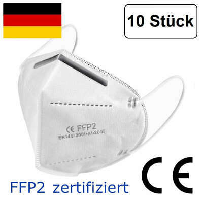 FFP2 face mask KN95 respirator, anti dust, protection mask 10 pieces