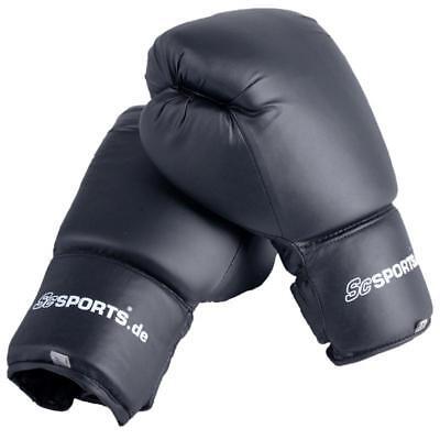 ScSPORTS® Boxhandschuhe Boxing Gloves, 10 oz, 12 oz, 14 oz, 16 oz, schwarz