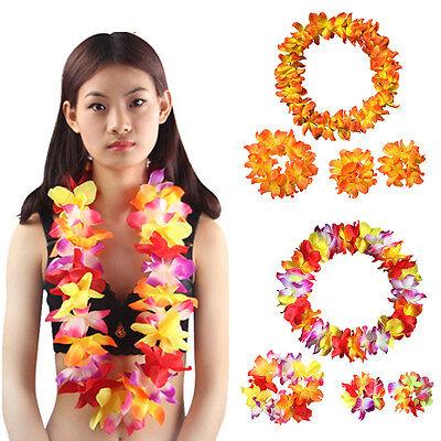 Hawaii Hula Lei Garland Flower Luau Tropical Party Favor Fancy Dress Evening - Hula Party