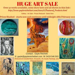 ART SALE - PRICES SLASHED Mudgeeraba Gold Coast South Preview