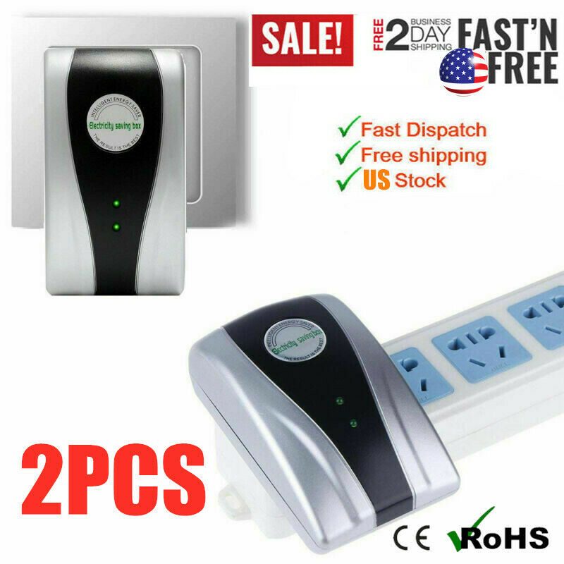2PCS Power Energy Electricity Saving Box Household Electric Saver Smart US Plug