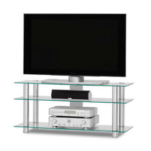 (Brand New in Retail Box) Heavy Duty Glass TV Table(TV Stand)