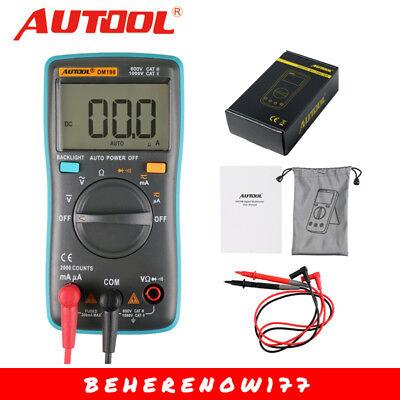Autoranging Digital Multimeter Voltmeter Ammeter Ohmmeter Ohm Ac Dc Tester Dm198