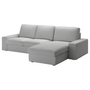 Sofa, 3-Seats - light grey