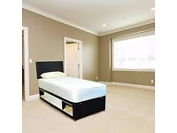 Brand New 3FT Single Black Bed Set ( Black Slider Bed & Mattress ) with Fast Free Delivery