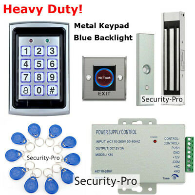 TOP 125KHz RFID+Password Door Access Control System+Magnetic Door Lock+IR Exit