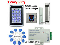 Door Access Control System+Electric Magnetic Lock+3PCS Wireless Receiver/&Remotes