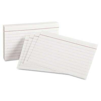 Oxford Ruled Index Cards 3 X 5 White 100pack 078787031043