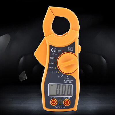 Portable Digital Multimeter Clamp Ac Dc Voltage Current Amp Ohm Tester Lcd Meter