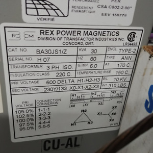 Isolation Transformers  600V  and others.