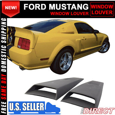 For 05-14 Ford Mustang Side Window Louver Visors Covers Eleanor Style PP Black for sale  Shipping to Canada