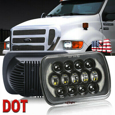 "7X6"" 5x7"" LED Cree Headlight for Ford Super Duty Truck F550 F600 F650 F700 F750"