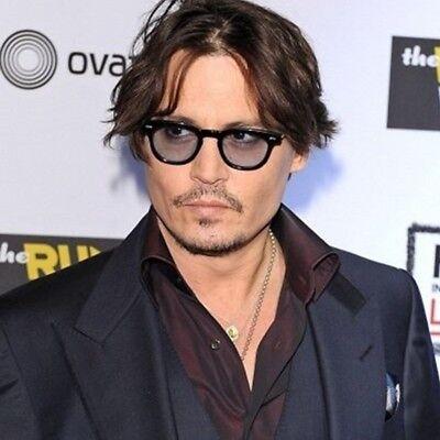 Johnny Depp Glasses Frame Vintage Retro Clear Tinted Lens Sun Glasses Mens (Johnny Depp Wearing Glasses)